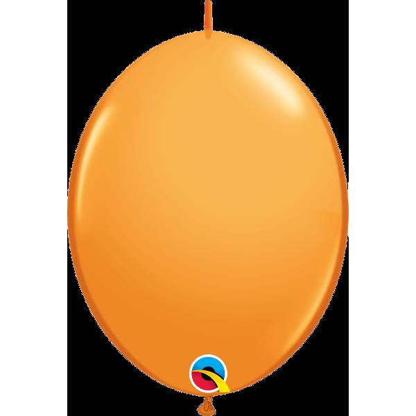 10 Ballons qualatex quick link 30 cm orange