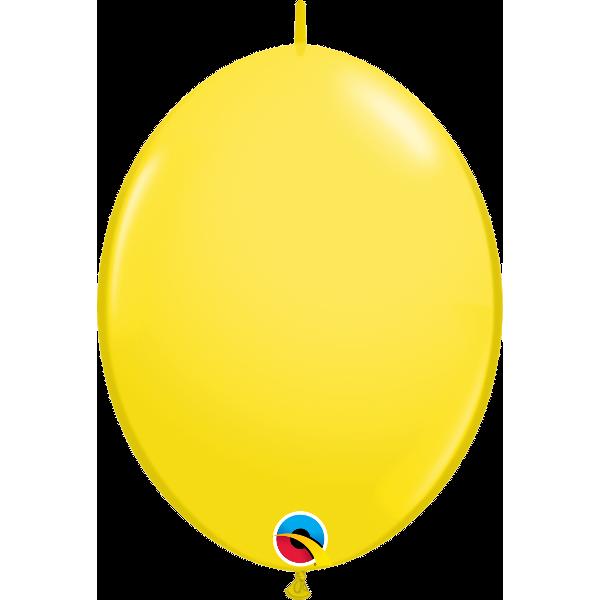 50 Ballons qualatex quick link 30 cm jaune