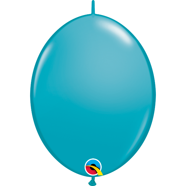10 Ballons qualatex quick link 30 cm turquoise