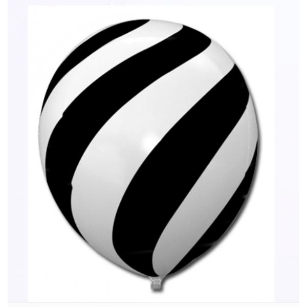 noir et blanc 35 cm6747 BWS AUTRES GROS BALLONS LATEX ORIGINAUX