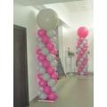 2 COLONNES CLASSIQUES ROSE ET GRISE H200