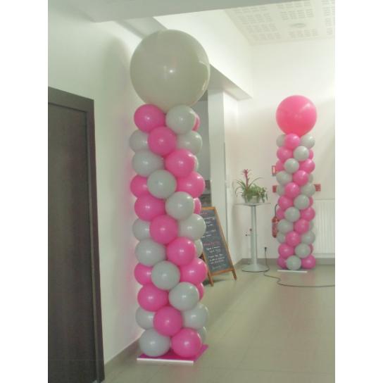 2 COLONNES CLASSIQUES ROSE ET GRISE H200 Les Colonnes