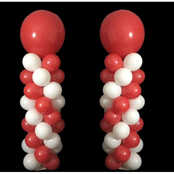 2 COLONNES air hélium 2 couleurs spriral Les Colonnes