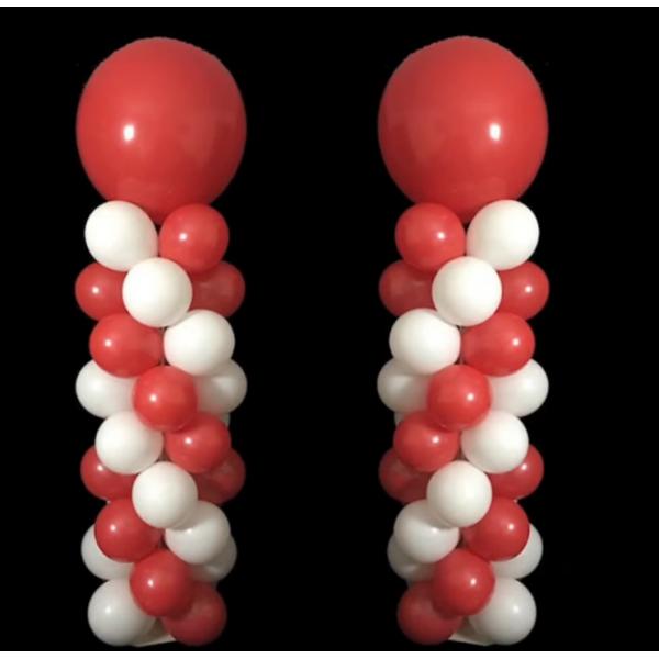 2 COLONNES air hélium 2 couleurs spriral