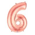 6 rose or Chiffre métal mylar 6