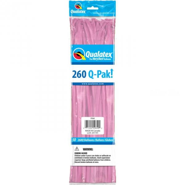 qualatex 260 rose POCHE DE 50 QUALATEX 260 Ballons Saucisse 260 (5*151 Cm) Le Plus Utilisê