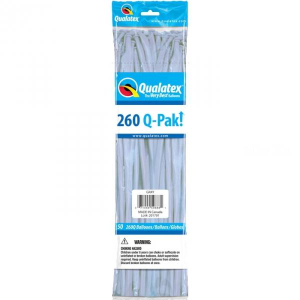 qualatex 260 gris poche de 50 QUALATEX 260 Ballons Saucisse 260 (5*151 Cm) Le Plus Utilisê