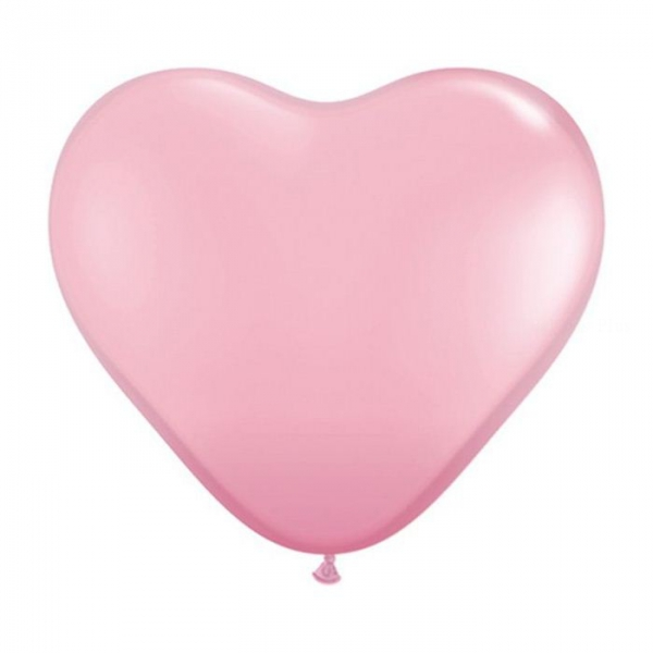 100 ballons latex coeur 15 cm rose QUALATEX COEUR 15 CM (air)