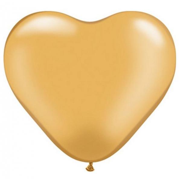 100 coeur 15 cm d'envergure or métal