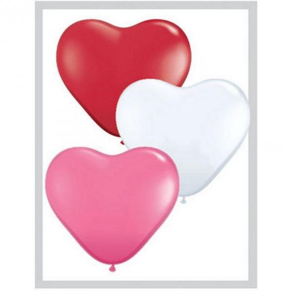 100 coeurs 15 cm Love assortiment47949 QUALATEX COEUR 15 CM (air)