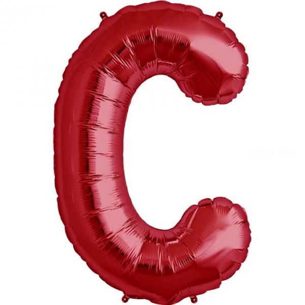 C lettre 75 cm ROUGE6811nscrouge224 NORTHSTAR LETTRES ET CHIFFRES 75 CM (air ou hélium)(6 couleurs au choix)