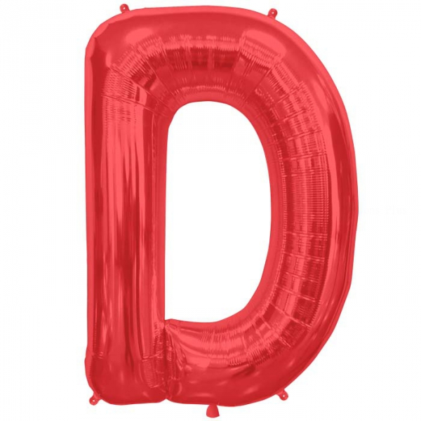 D lettre 75 cm ROUGE6812nscrouge NORTHSTAR LETTRES ET CHIFFRES 75 CM (air ou hélium)(6 couleurs au choix)