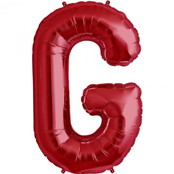 G lettre 75 cm ROUGE6816nsgrouge228 NORTHSTAR LETTRES ET CHIFFRES 75 CM (air ou hélium)(6 couleurs au choix)