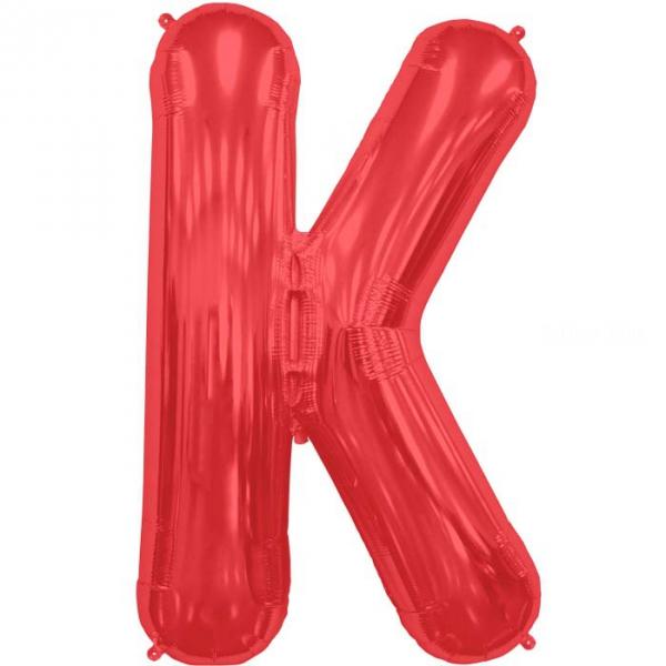 K lettre 75 cm ROUGE6818nskrouge232 NORTHSTAR LETTRES ET CHIFFRES 75 CM (air ou hélium)(6 couleurs au choix)