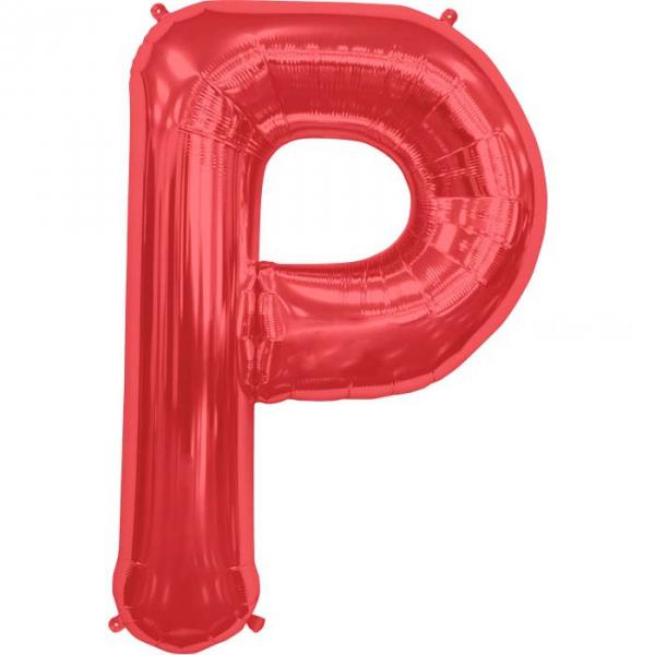 P lettre 75 cm ROUGE6818nsprouge114 NORTHSTAR LETTRES ET CHIFFRES 75 CM (air ou hélium)(6 couleurs au choix)