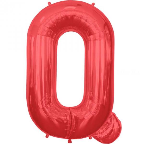 Q lettre 75 cm ROUGEq6827nsprouge114 NORTHSTAR LETTRES ET CHIFFRES 75 CM (air ou hélium)(6 couleurs au choix)