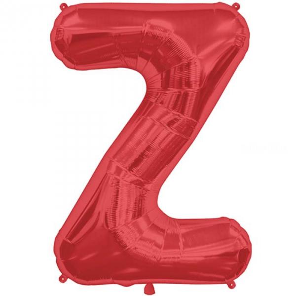 Z lettre 75 cm ROUGEz6827nsprouge247 NORTHSTAR LETTRES ET CHIFFRES 75 CM (air ou hélium)(6 couleurs au choix)