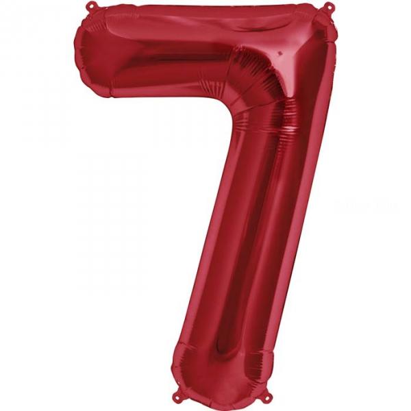 7 Chiffre 75 cm ROUGE7nsarouge1210 NORTHSTAR LETTRES ET CHIFFRES 75 CM (air ou hélium)(6 couleurs au choix)