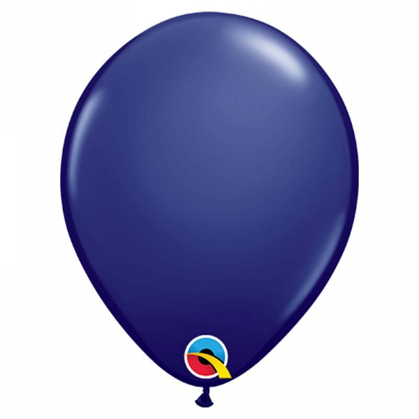 100 ballons qualatex bleu navy 28 cm