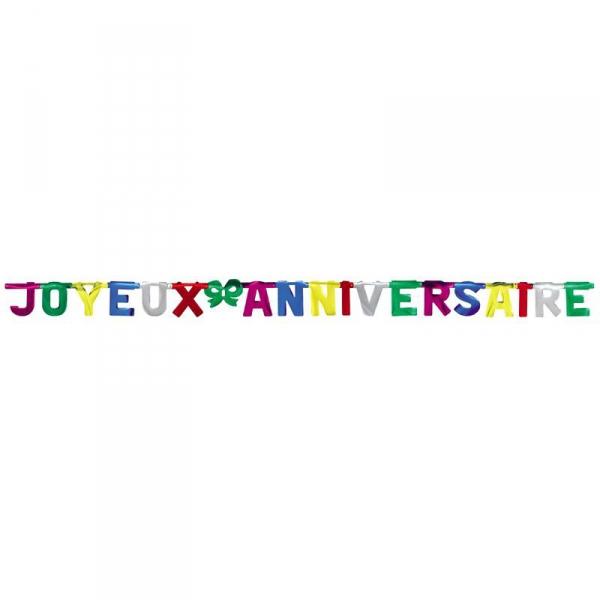 guirlande géante Joyeux Anniversaire23034 ESSENTIELS ANNIVERSAIRE ENFANTS
