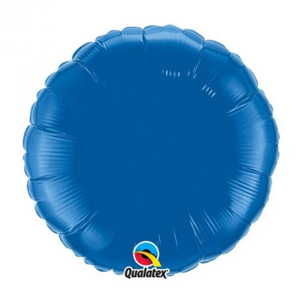 dark blue bleu foncé rond 45 cm à plat mylar87141 QUALATEX Rond 45 cm mylar
