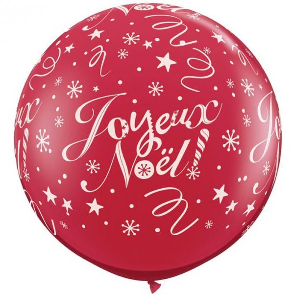 1 ballon Joyeux Noël ballons baudruche 90 cm