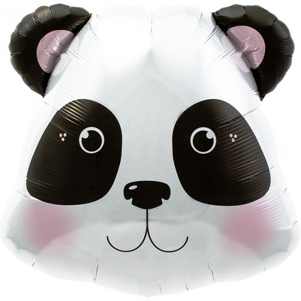 Tête de panda ballon mylar