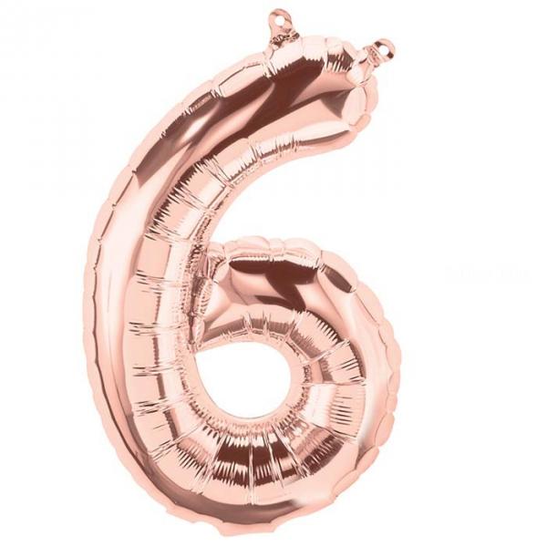 6 chiffre 41 cm rose gold6895 NORTHSTAR chiffres et Lettres 40 cm (gonflage air) fermeture automatique (5 couleurs au choix)