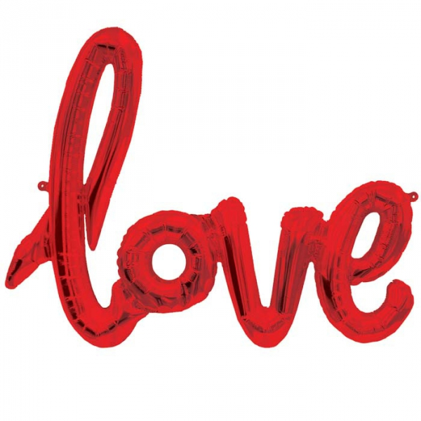 Love script rouge 76*56 cm (gonflage air)013251 NORTHSTAR Amour Et Saint Valentin