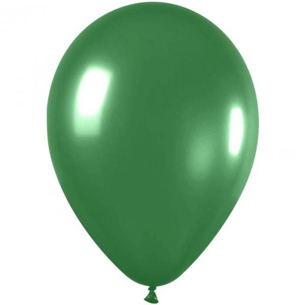 50 ballons sempertex 30 cm métallique satin vert 53011 530 SEMPERTEX 30 Cm Ø Métal Claires et foncés