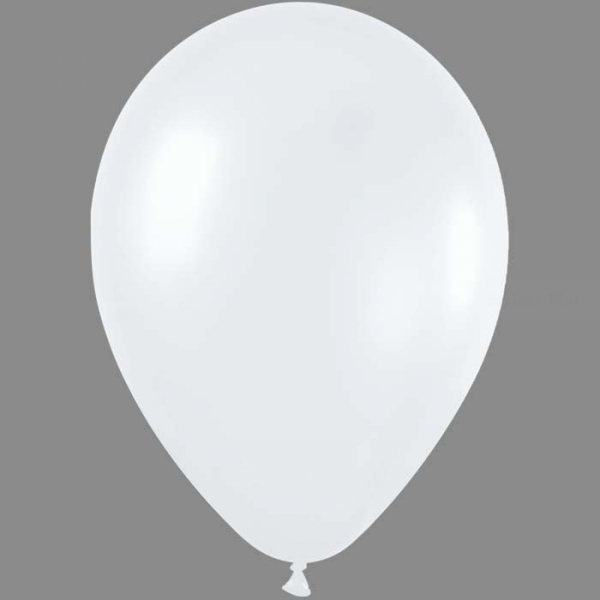 50 ballons sempertex 30 cm satin perlé blanc 405