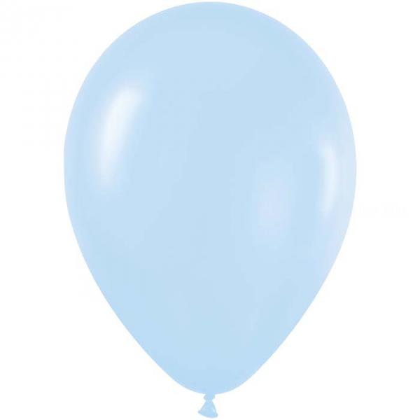 50 ballons sempertex 30 cm satin pearl bleu 440