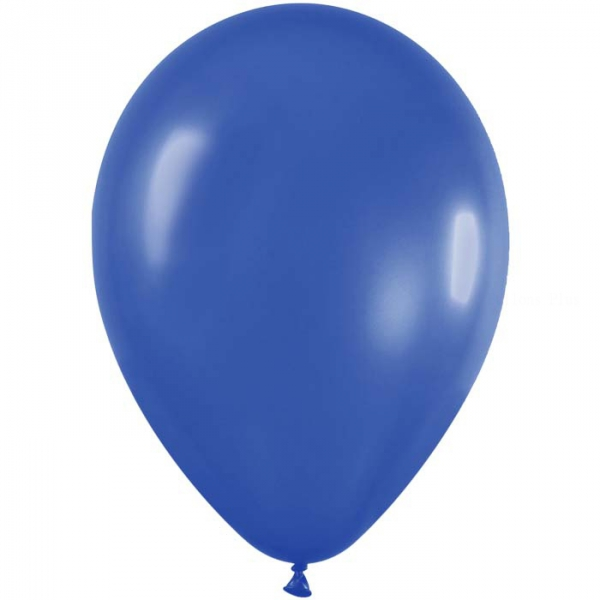 50 ballons satin bleu 540 métal 30 cm