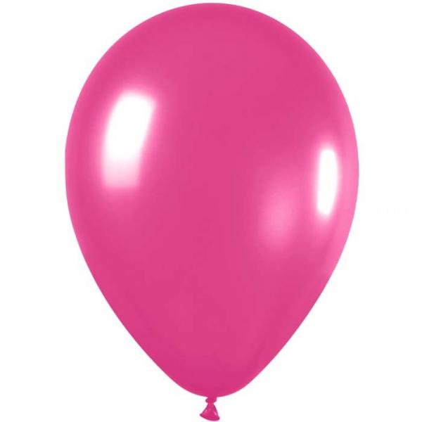50 ballonssatin fushia 512 métal 30 cm