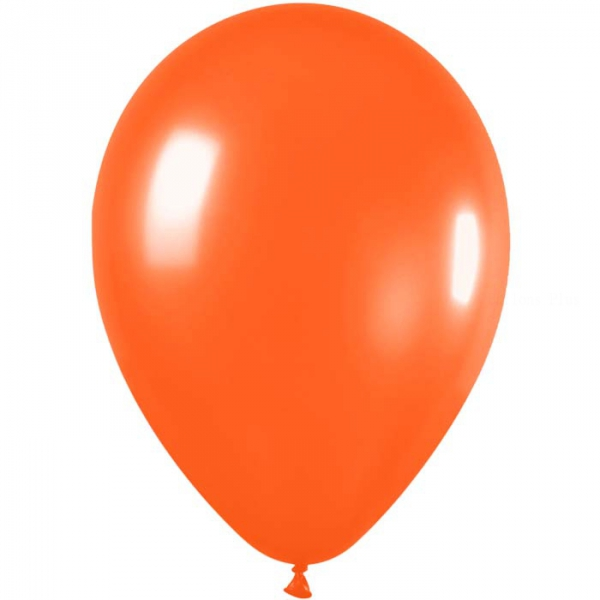 50 ballons satin orange 561 métal 30 cm