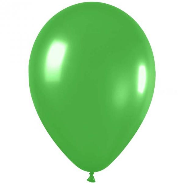 50 ballon métal vert lime green 531 30 cm de diamètre11 531 SEMPERTEX 30 Cm Ø Métal Claires et foncés