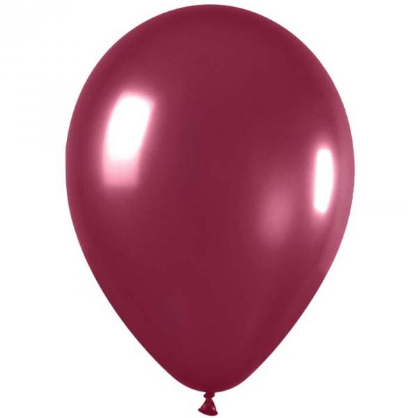 50 ballons sempertex 30 cm BORDEAUX 51811 518 SEMPERTEX 30 Cm Ø Métal Claires et foncés