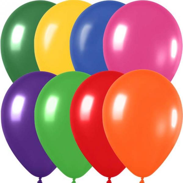 50 ballons sempertex 30 cm multicouleur métallisé
