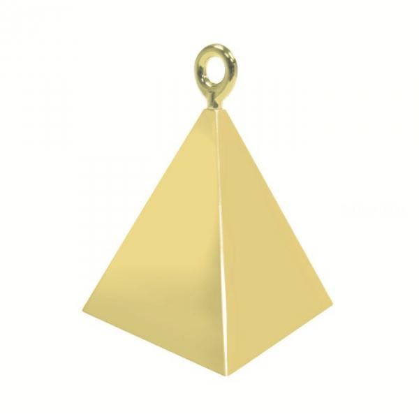 12 contrepoids or pyramide14407 QUALATEX Lestes Pour Ballons,Poids Ballons, Contrepoids Ballons