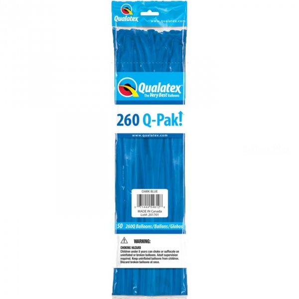 qualatex 260 Dark blue POCHE DE 5054612 QUALATEX 260 Ballons Saucisse 260 (5*151 Cm) Le Plus Utilisê