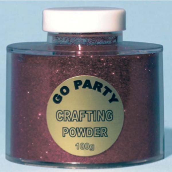poudre paillette rouge en boite de 100 grs82487 poudre paillettes et stylos colle pour décoration