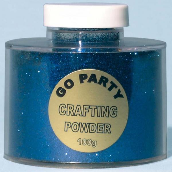 poudre paillette bleu foncé en boite de 100 grammes82486 poudre paillettes et stylos colle pour décoration