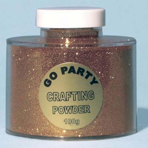 poudre paillettes or en boite de 100 grs82490 poudre paillettes et stylos colle pour décoration