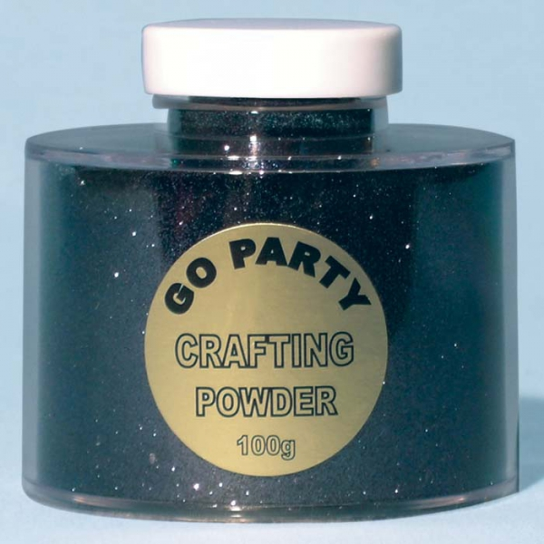 poudre paillette noir en boite de 100 grammes82489 poudre paillettes et stylos colle pour décoration