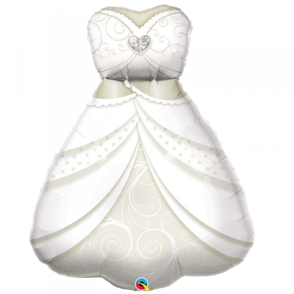 robe de mariée ballon mylar Mariages