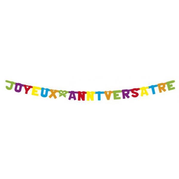 guirlande 2 M Joyeux Anniversaire43201 ESSENTIELS ANNIVERSAIRE ENFANTS