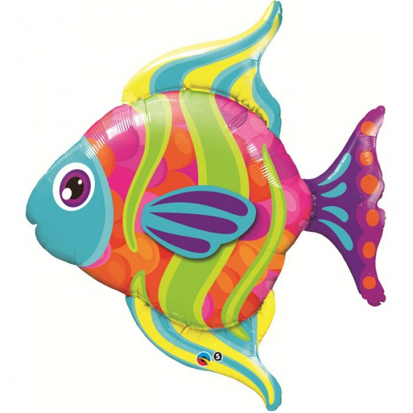 ballons mylar poisson 109 cm16448 QUALATEX La Mer