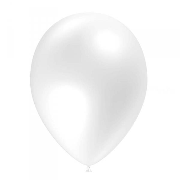 100 ballons blanc opaque 14 cm