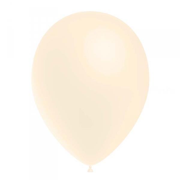 IVOIRE ballons standard opaque 14 cm diamètre