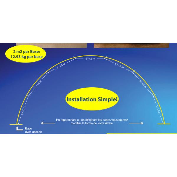 location structure arche 10.5 m pour intérieurarche 10.5 ext BWS Structures Pour Décorations